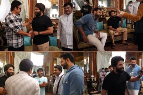 Allu Arjun Makes Surprise Visit To F3 Sets